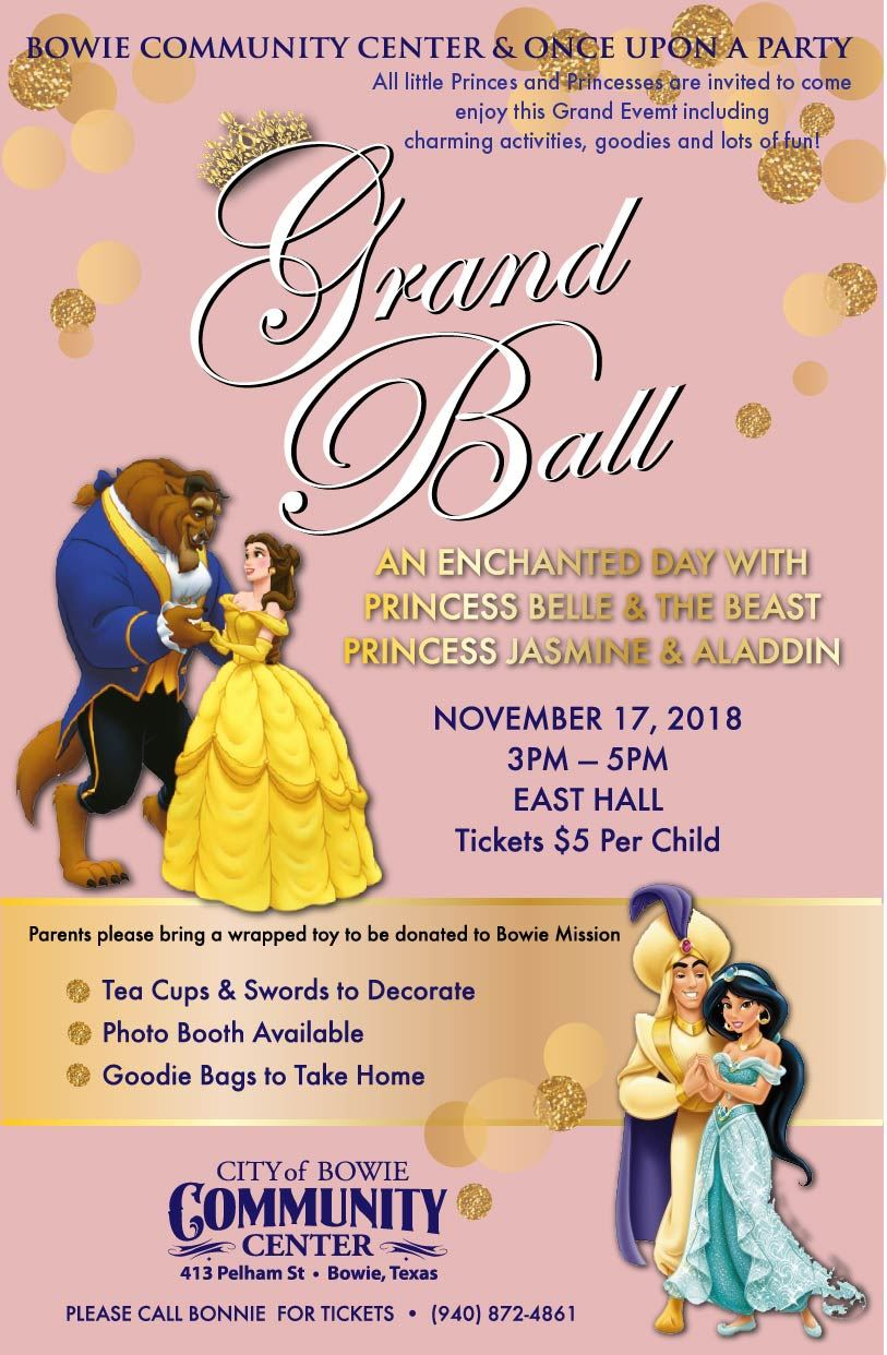 Bowie Community Center Princess Ball poster