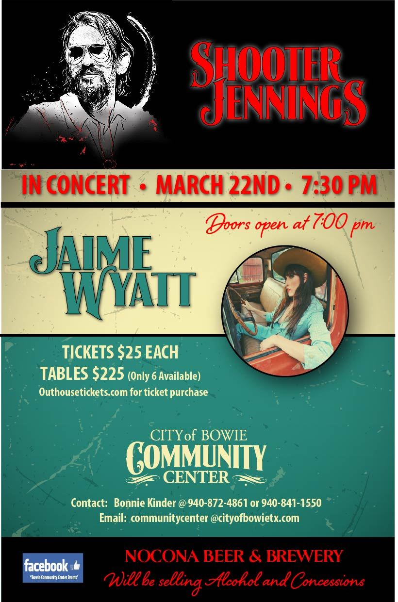 Bowie Community Center Shooter Jennings poster