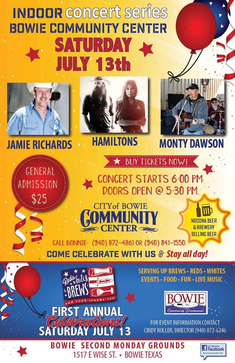 Bowie Community Center July 13  poster
