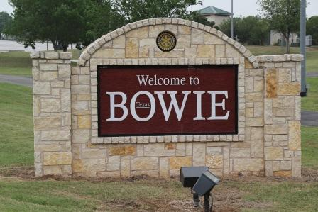 welcome to bowie sign